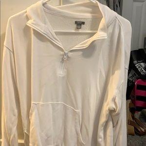 Aerie white half zip
